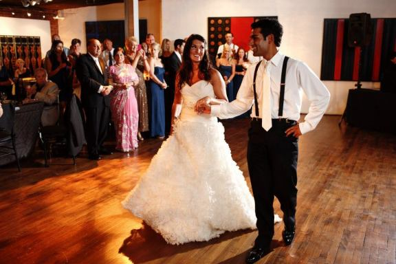Their first dance song was - Roberta Flack's - The First Time.